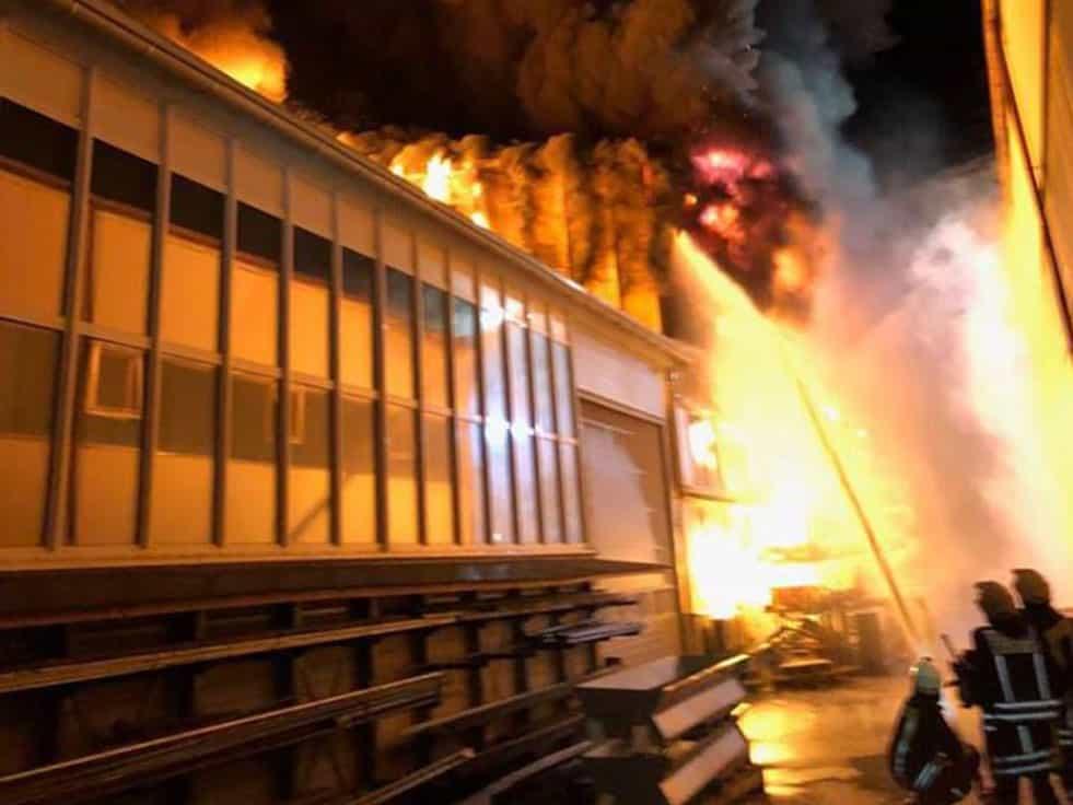 Brandfall Herbold Meckesheim 01 - Fire at Herbold Meckesheim GmbH