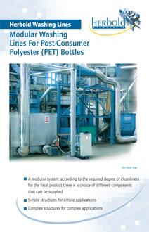 Modular Washing Lines For Post-Consumer Polyester (PET) Bottles