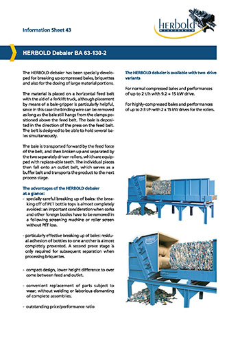 Information sheets: Machines and plastics recycling